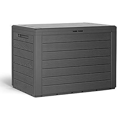 Deuba Plastic Garden Cushion Storage Box 190L