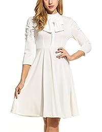 Women's 1950s 3/4 Sleeve Vintage Casual Summer Dress