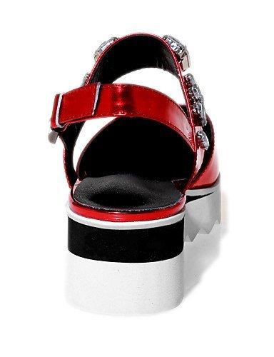 Exterior para Plateado Slingback Sandalias mujer Zapatos de cuña de ShangYi Creepers tacón Cuñas de Vestido punta estrecha 65npAxgnqa