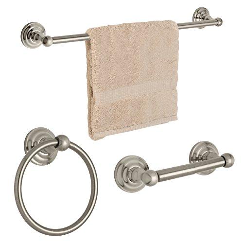 towel bar set brushed nickel - 7