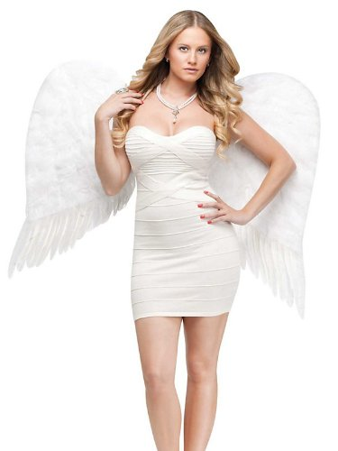 Adult Feather Angel Wings Costume Accessory for $<!--$32.13-->