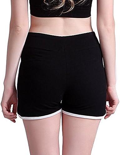 Fuck Off Logo Womens Running Workout Shorts Athletic Elastic Waist Hot Pants