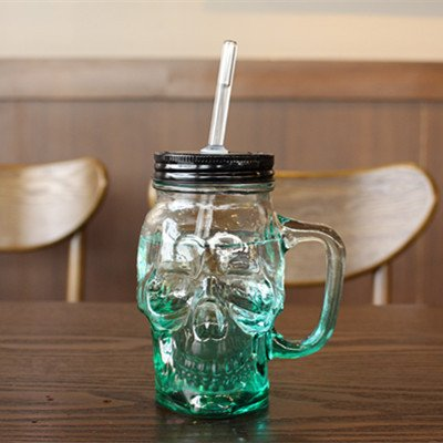 green mason jars with handles - 4