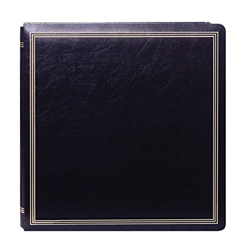 Pioneer Photo Albums Pioneer Postbound Deluxe Boxed Black Leatherette Magnetic Album with 2 Bonus Refill Packs by Pioneer Photo Albums