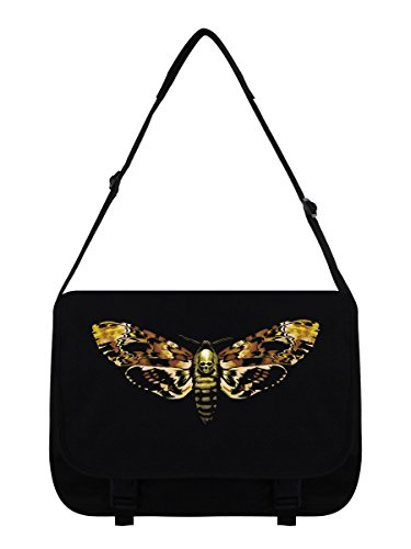Messenger Bag Todesfalter schwarz 38x33x11cm