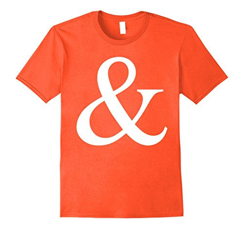 Mens Ampersand Candy T-Shirt for M Candy Group Halloween Costumes Medium Orange
