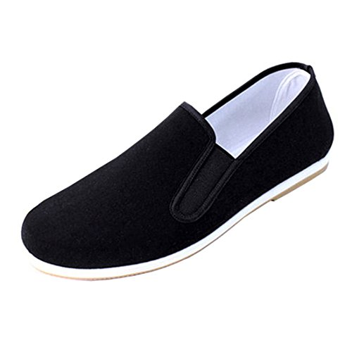 Andux artes marciales Kung Fu Tai Chi zapatos Dichotomanthes Sole Old Beijing zapatos unisex TJX-01 colour negro