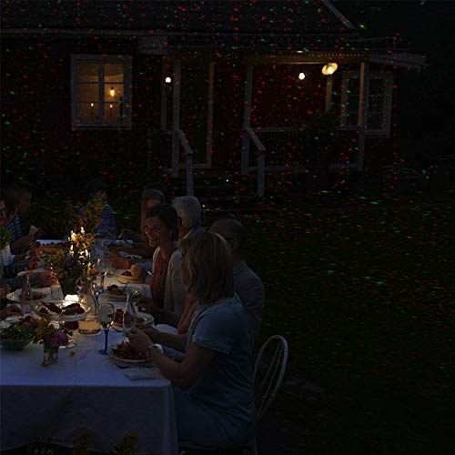 Christmas Laser Lights, Joly Joy Class Ⅲ-A Star Projector with Bonus 14.7 Feet Extension Cord, Light Sensor, 10 Modes IP65 Waterproof, FDA Approved for Christmas, Part and Garden Decoratio by Joly Joy (Image #4)