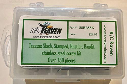 (Slash, Stamped, Rustler, Bandit stainless steel screws by RC Raven)