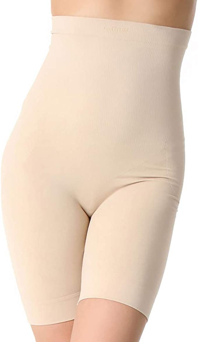 Aha Moment by N-fini Womens Lycra High-Waisted Control and Thigh Slimmers Shapewear Shorts