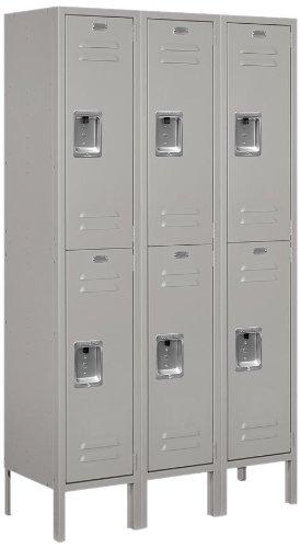 Salsbury Industries 62352GY-U Unassembled Standard Metal Locker with Double Tier, Gray