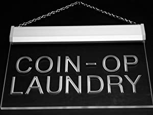 Multi Color i391-c Coin-op Laundry Dry Clean Display Neon LED Sign with Remote Control, 20 Colors, 19 Dynamic Modes, Speed & Brightness Adjustable, ...