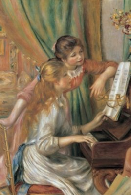 Tomax Two Young Girls at the Piano 1000 Piece Pierre-Auguste Renoir Jigsaw - Chanukah Piano