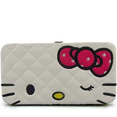 Hello Kitty Lady Bifold Clutch Long Wallet Purse White 0208  Amazon.co.uk   Shoes   Bags 761a939eeb