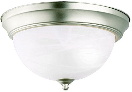 Kichler 8108NI Flush Mount 2-Light, Brushed Nickel