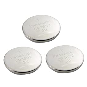 3pcs Panasonic CR1632 CR 1632 3v Coin Lithium Battery, REMOTE KEYLESS ENTRY TRANSMITTER FOB Battery , 2005-2012