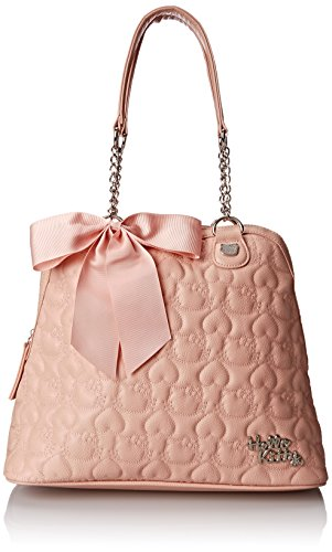 Hello Kitty HK Quilted Double Chain Handle Dome Shoulder Bag