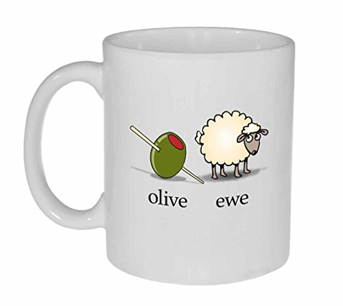 Olive Funny White Ceramic Coffee product image