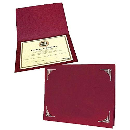 Burgundy Certificate Folders for 8x10 or 8.50x11 Inserts Sold in 25s - 8.5x11 by SendAFrame