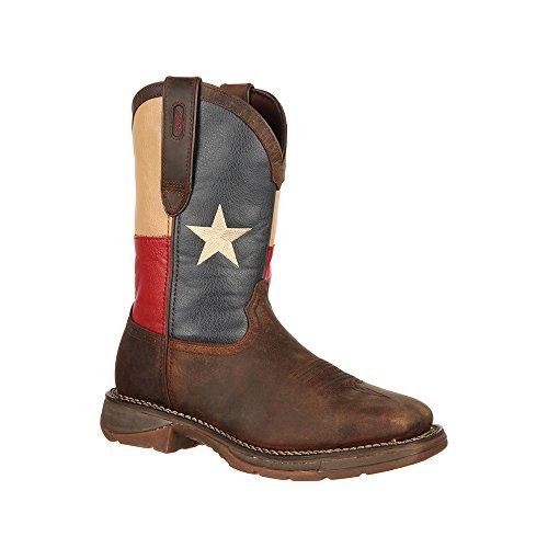 Stivale Western Durango Uomo Db021, Marrone Scuro / Bandiera Texas, 8 W Us