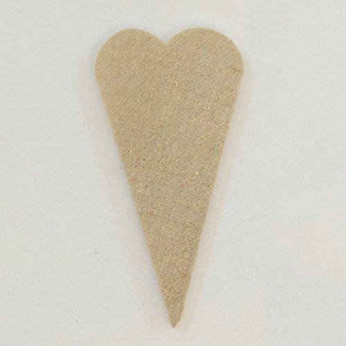 Package Of 50, Hardwood Primitive Heart 2.5