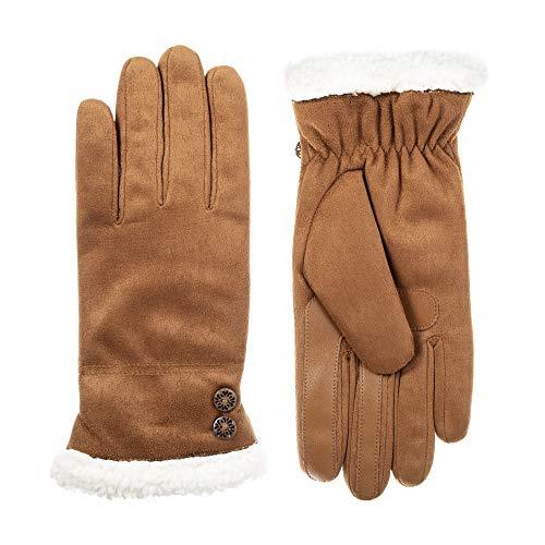 (Isotoner Women's Microfiber Touchscreen Gloves w/Water Repellent Technology, cognac,)