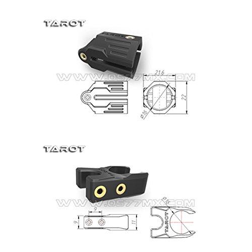 Tarot 16mm Carbon Tube Folding Positioning Seat Group Orange TL68B28 for 680 650