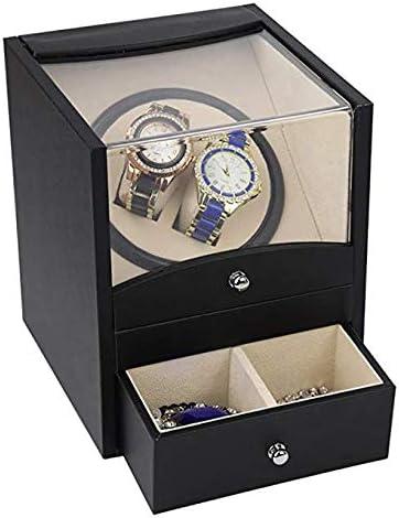 Audivik Caja Giratoria para Relojes Automatico 2,Caja de Enrollador de Reloj Automático Caja de Reloj Cajas de Relojes Cajas Giratorias Negro: Amazon.es: Deportes y aire libre