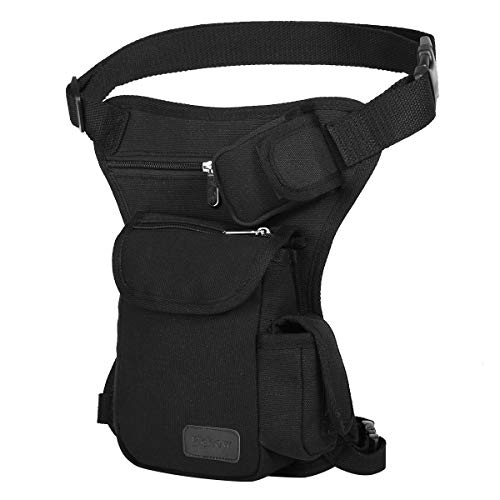 Eshow Men's Drop Leg Pouch Tools Bags Tactical Leg Bag Purse Fanny Pack Thigh Bags Bike Cycling Hip Bag Canvas ()