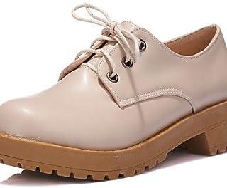 Njx/femme Chaussures Talon bas/plate-forme Bout Rond Oxfords décontracté Noir/jaune/beige MJKIK