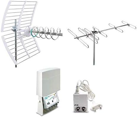 Fracarro Kit 15 Evo Antena Digital Terrestre 1 Antena Elika Pro + Antena BLV6F + Amplificador + Alimentador 217947