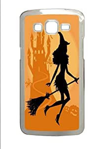 Samsung Grand 7106 Case, Samsung Grand 7106 Cases -Halloween Witch Background PC case Cover for Samsung Grand 2 and Samsung Grand 7106 Transparent