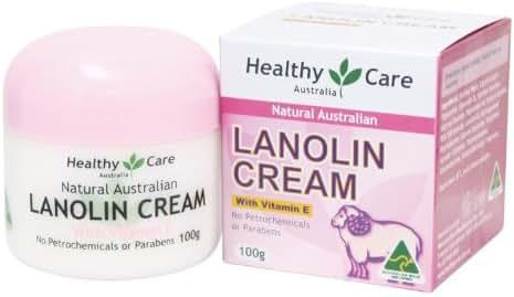 Healthy Care Natural Lanolin & Vitamin E Cream 100g (Made in Australia)