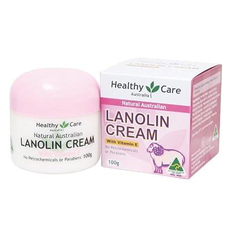 Healthy Care lanolina natural & Vitamina E Crema 100 g, un rico Hidratante Crema para