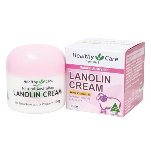 Healthy Care Natural Lanolin & Vitamin E Cream 100g (Made in Australia) (Best Vitamin Brand Australia)