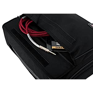 Pedaliera per chitarra Gator in legno 18 x 30,48 cm borsa per trasporto in nylon con lucchetto – nero, legno, 42 x 30,5 cm