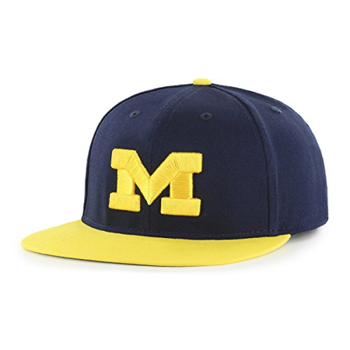 - NCAA Michigan Wolverines Gallant OTS Varsity Snapback Adjustable Hat, One Size, Navy
