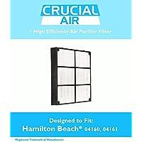 Hamilton Beach 04912 HEPA Filter Designed To Fit Hamiton Beach TrueAir Air Purifier Models 04160, 04161, 04150; Compare To Hamilton Beach Filter Part # 04912, 4912; Designed & Engineered By Crucial Air