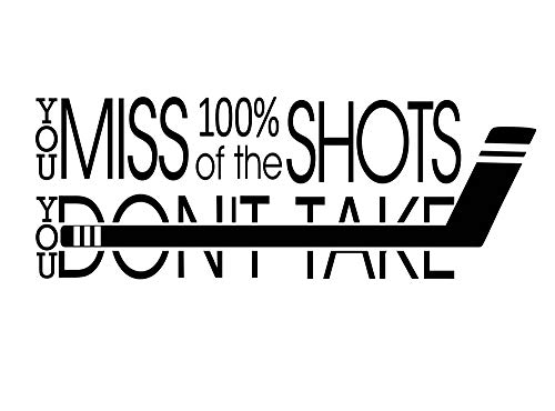 Imposing Design You Miss 100 Percent of The Shots You Don't take 30 X 11 Sports Team Sticker Calligraphy Wall Decal Art Decor Motivational Inspirational Wall Sticker Lettering Curry Inspired (We Miss 100 Percent Of The Shots)