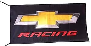 Chevrolet Racing negro bandera Banner 2,5x 5m