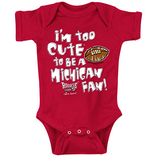 Smack Apparel Ohio State Buckeyes Fans. Too Cute Red Onesie (Onesie, 6M) ()
