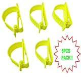 5Pcs Pack Yellow Sino-Max S002-5Y Belt Hook Glove Clip Carrier Accessory, Utility Catcher Clip Belt Clip Attachment For Gloves,Hard Hats, Ear Muff Clip, Ear Protection Clip, Helmets,With Belt Clip
