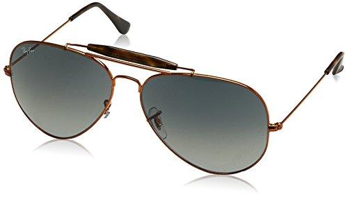 Ray-Ban Men's Outdoorsman Ii Aviator Sunglasses, Shiny Bronze, 62 - Ban 2 Clubmaster Ray