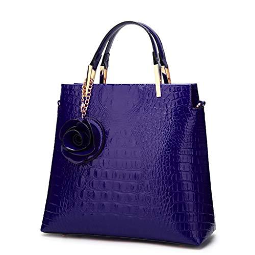 Bleu Couleur Main Épaule Sacs Américain Mode Style ZYqi Sac Une Et Européen Rouge De À Foncé Vin 71xEF