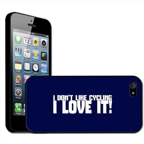 "Fancy A Snuggle ""I Don't Like Cycling I Love It"" Schutzhülle, Hard Case für Apple iPhone 5, zum Anklippen"