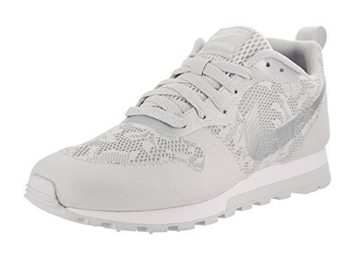 Nike Wmns Md Runner 2 Br, Zapatillas para Mujer Blanco (Gris Loup/platine Pur/blanc)