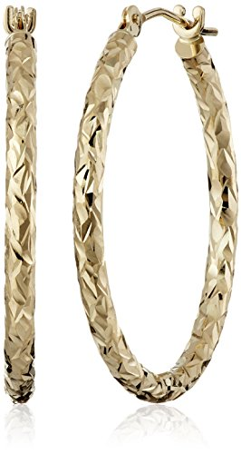 10k Yellow Gold Hoop Earrings, 1
