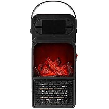 Leepesx 900W Handy Flame Heater Mini Electric Space Heater Warmer Fan Blower Radiator Heating for Winter Office Room