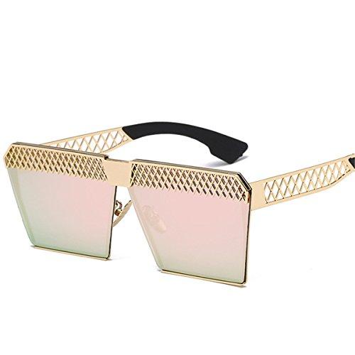 XGLASSMAKER Carré Mode Miroir F Soleil Polarisées polarized Tendance Light Lunettes De Plat Creux rT0wqrO