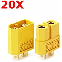 20 Pair XT60 Male Female Bullet Connectors Plugs For RC Battery